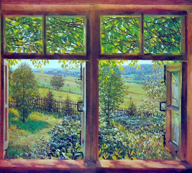 Open Window. Ligachevo, 1947 - Konstantin Yuon