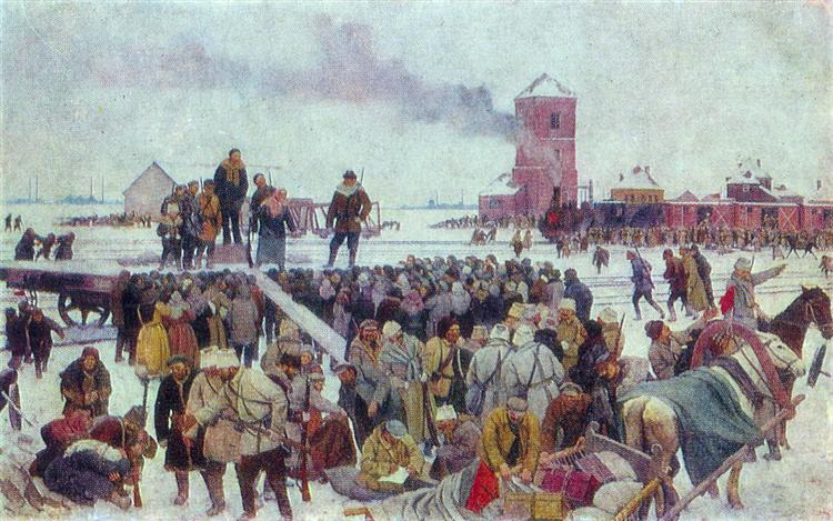 Seeing the unit of workers to the front, 1928 - Konstantin Yuon