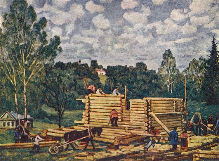The Housebuilding - Konstantin Yuon