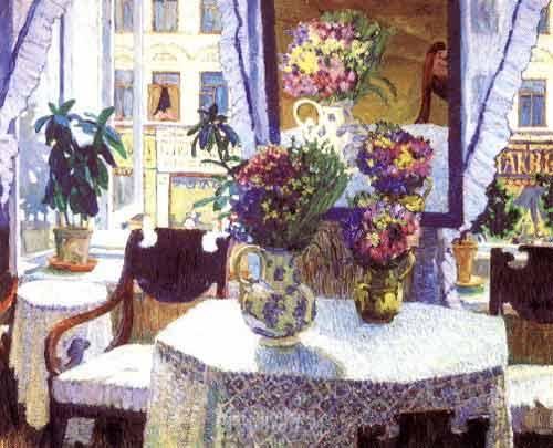 The Interieur, 1907 - Konstantin Yuon