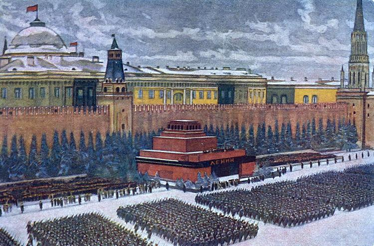 The Red Army on parade in Red Square, Moscow, November 1940, 1940 - Konstantin Yuon