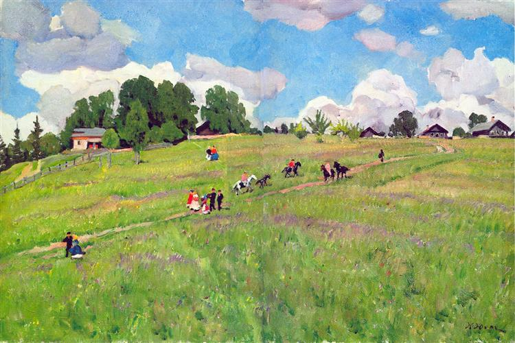 The Rural Holiday. On The Hill. Ligachrvo, 1923 - Konstantin Yuon