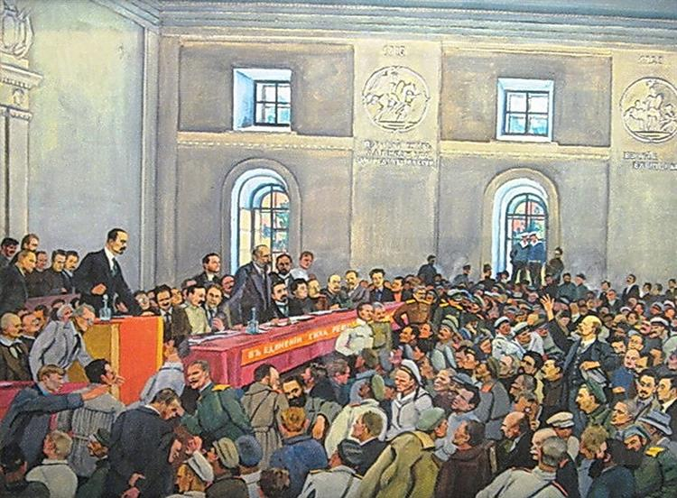There is such a party! (Lenin on the 1st All-Russian Congress of Workers' and Soldiers'Deputies in Petrograd), 1934 - Konstantin Yuon