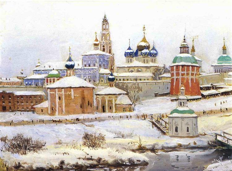 Troitse-Sergiyev Monastery - Konstantin Yuon