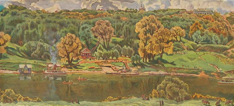 View of Moscow from The Vorobyovy Hills, 1910 - Konstantin Yuon