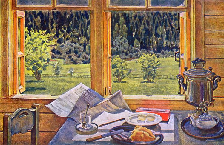 Window to Nature. Ligachevo, may, 1928 - Konstantin Yuon