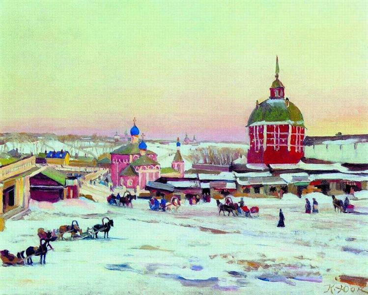 Zagorsk. Market Square, 1943 - Konstantin Yuon
