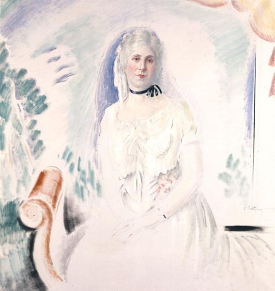 Portrait of Aristovouli Lopresti, c.1933 - Константинос Партенис