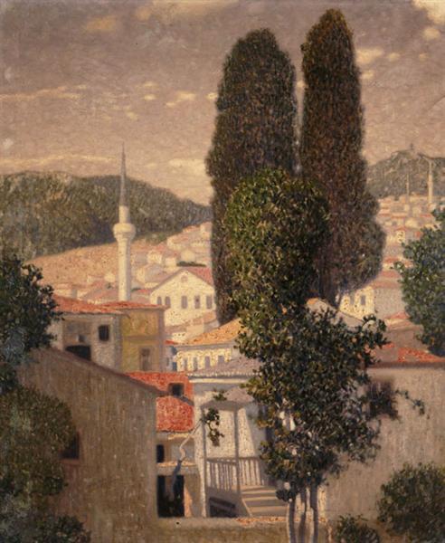 Landscape from Kavala, c.1904 - Константинос Партенис