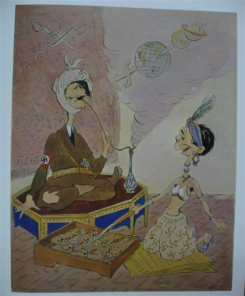 Arab tales of German High Command or One Thousand and One Lies, 1941 - Kukryniksy