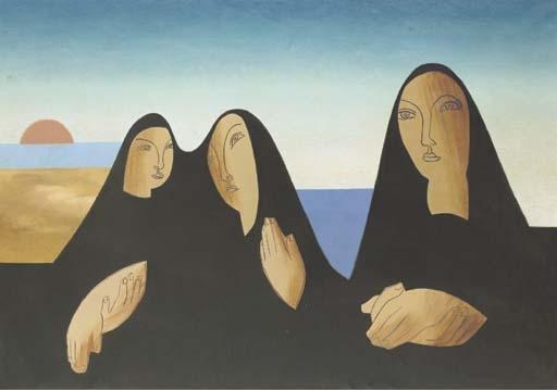Portrait de nonnes - Leopold Survage