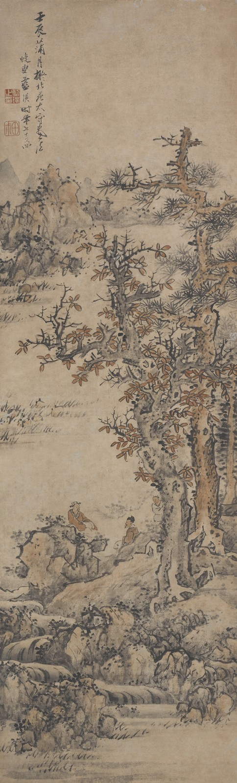 Landscape after Dong Yuan - Lan Ying - WikiArt.org ...