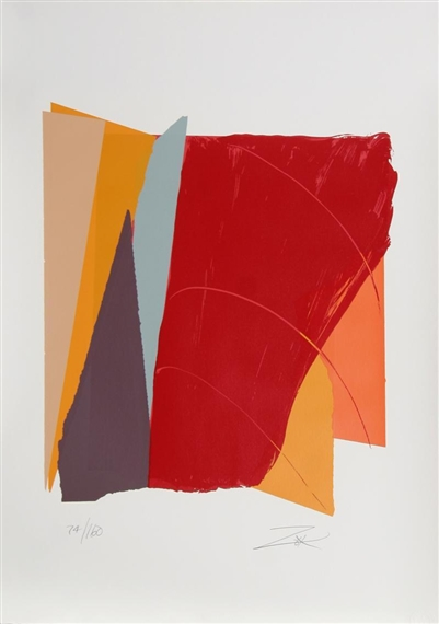 Red Line I, 1979 - Larry Zox