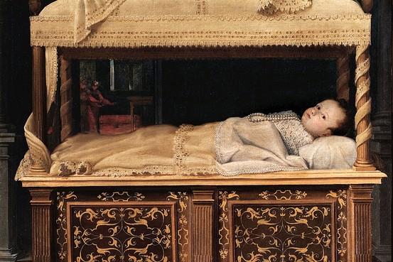 Newborn Baby in a Crib, 1583 - Лавиния Фонтана