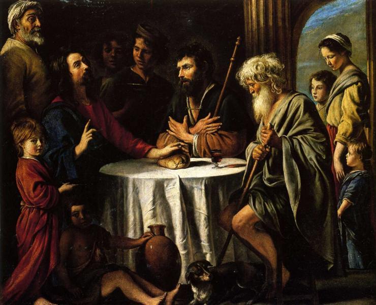 The Supper at Emmaus, 1645 - Le Nain (Irmãos Le Nain)