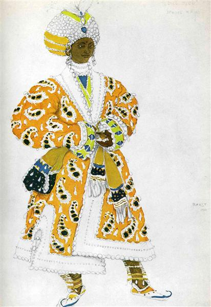 Le dieu bleu a young rajah, 1911 - Leon Bakst