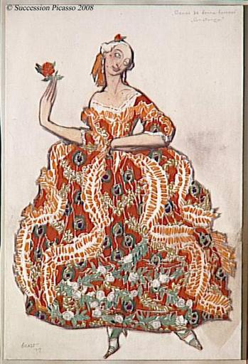 Portrait of a Lady, 1917 - Leon Bakst