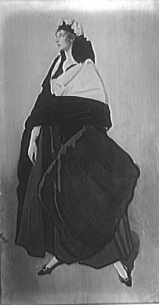 Portrait ofMiss IdaRubinstein - Leon Bakst