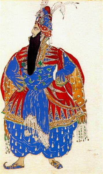 Scheherazade shah shahriar, 1910 - Leon Bakst