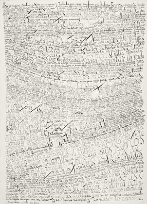 Written painting, 1964 - Leon Ferrari