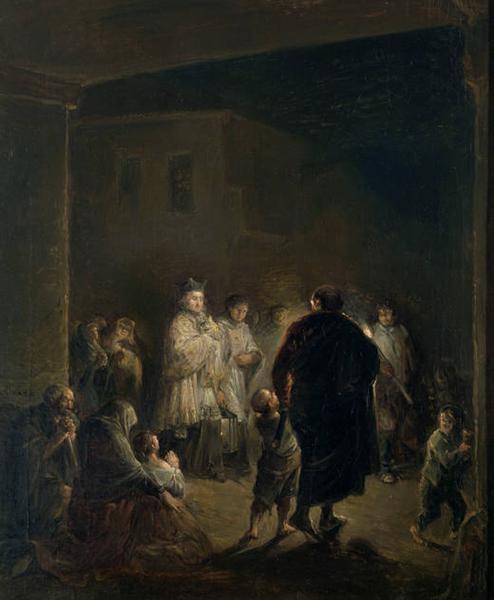 The viaticum, 1840 - Leonardo Alenza