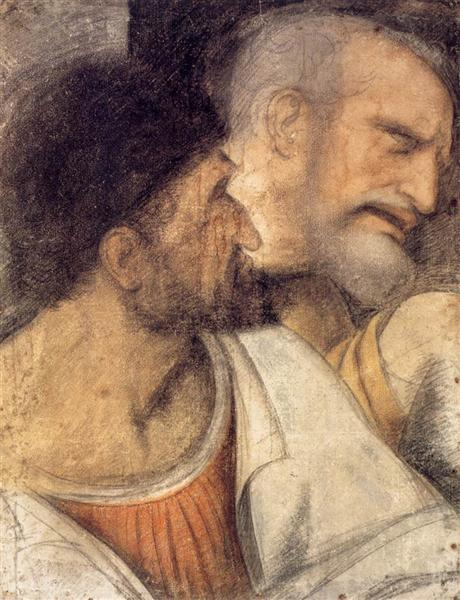 Heads of Judas and Peter - da Vinci Leonardo