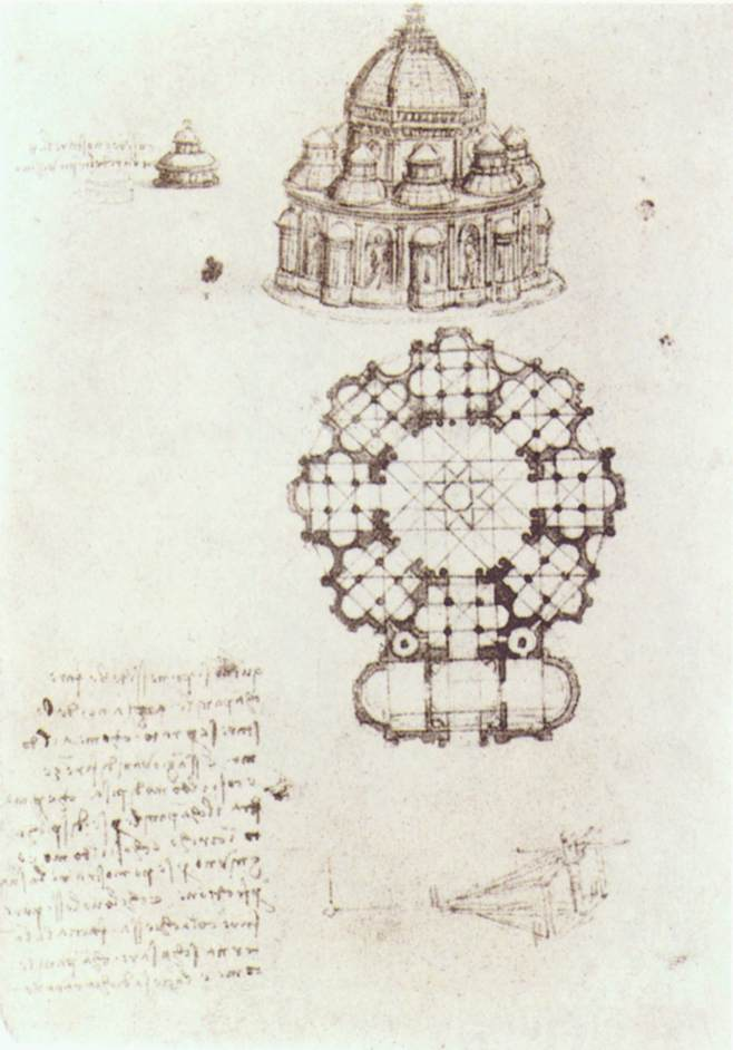 Study of a central church, 1488