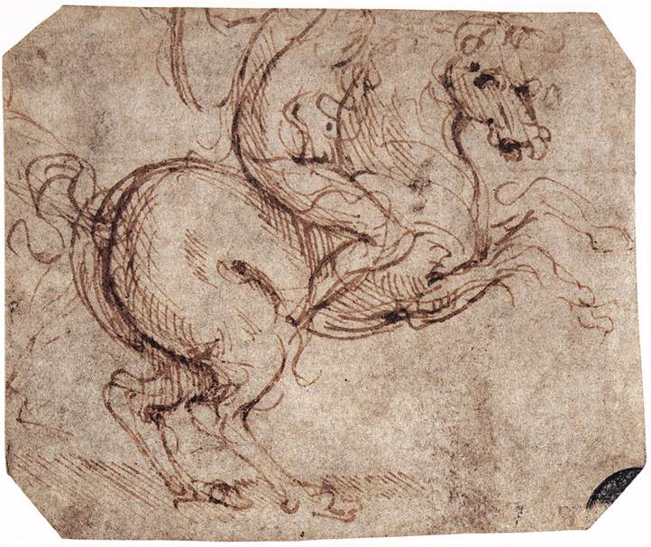 Study of a rider, 1504