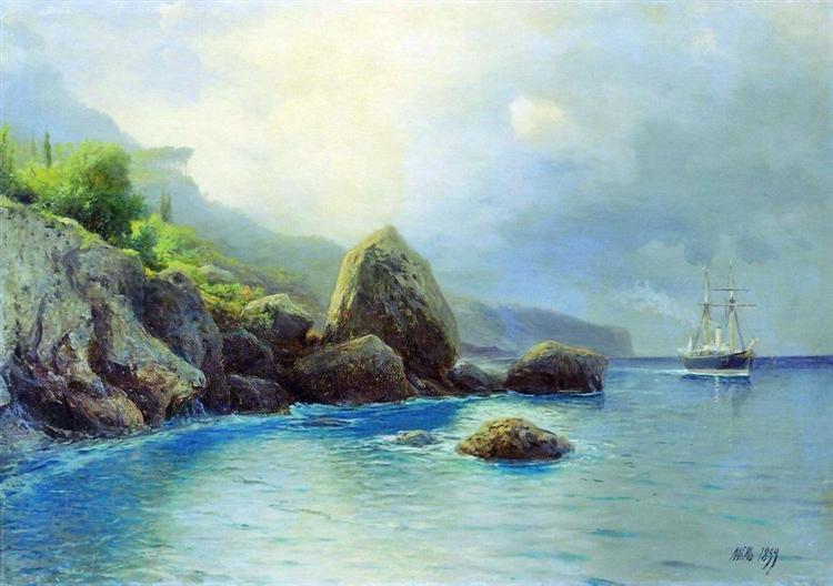 Coast of the sea, 1899 - Lev Lagorio