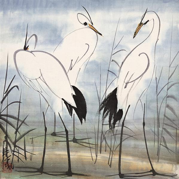 Thinking Three Times - Lin Fengmian