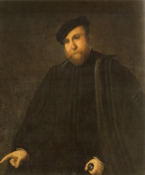 Portrait of a man, 1545 - Lorenzo Lotto