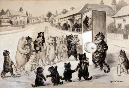 THE PUNCH AND JUDY SHOW - Louis Wain
