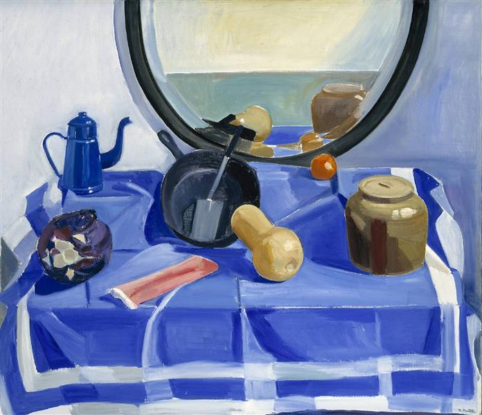 Still Life with Frying Pan and Red Cabbage, 1979 - Louisa Matthiasdottir