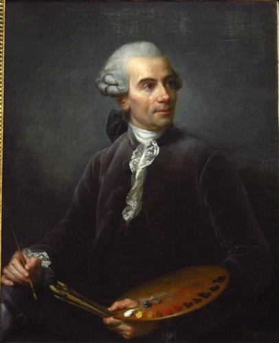 Portrait of Joseph Vernet  - Louise Elisabeth Vigee Le Brun
