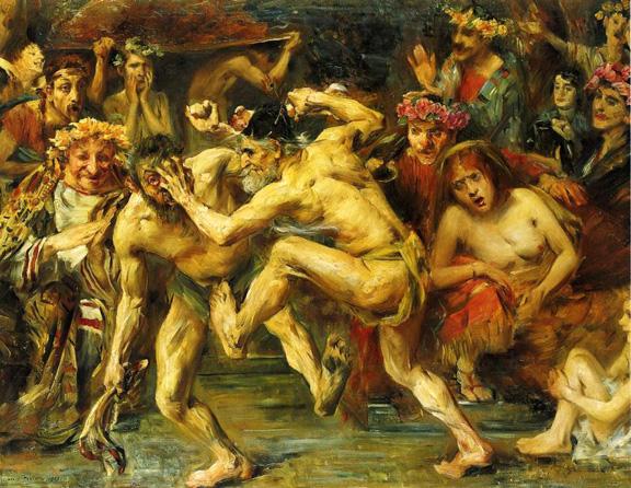 Odysseus Fighting with the Beggar, 1903 - Ловис Коринт
