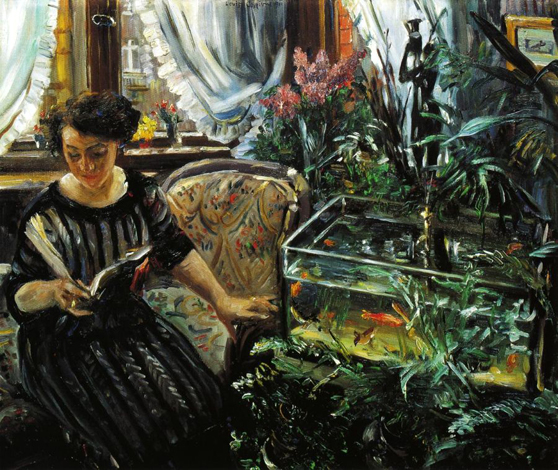 Woman by a Goldfish Tank, 1911 - Lovis Corinth
