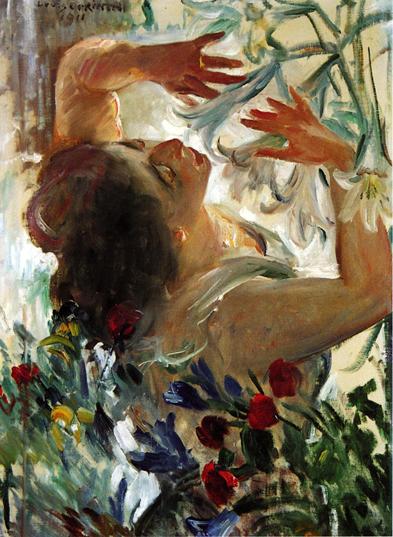 Woman with Lilies in a Greenhouse, 1911 - Ловис Коринт