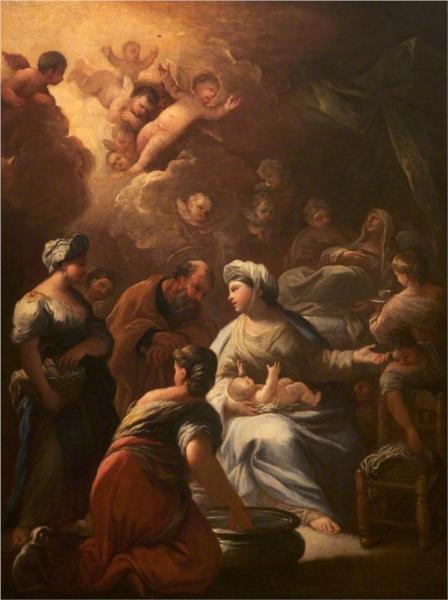 """Лука Джордано """"Рождение Богородицы"""" 1695"""
