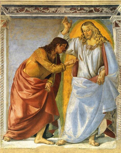 Christ and the Doubting Thomas, 1477 - 1482 - Luca Signorelli