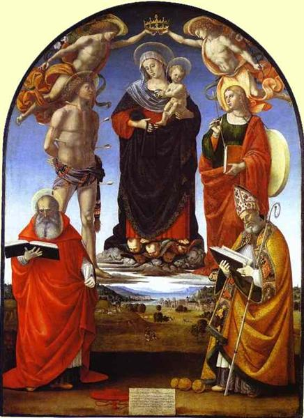 The Virgin and Child among Angels and Saints - Luca Signorelli