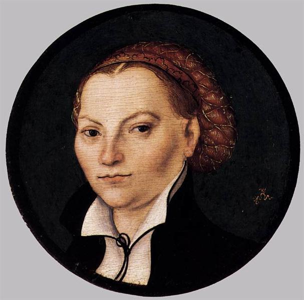 Katharina von Bora, c.1525 - Lucas Cranach el Viejo