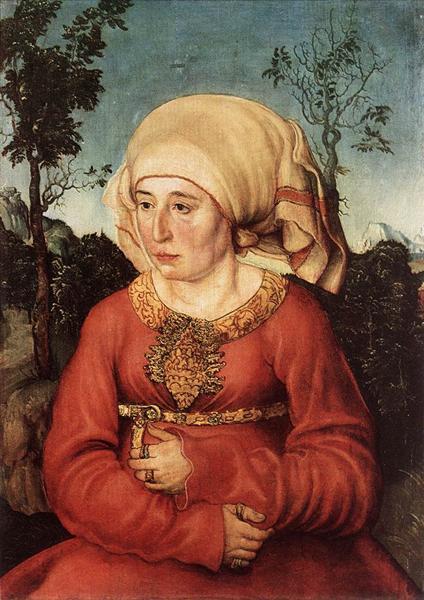 Portrait of Frau Reuss, 1514 - Lucas Cranach der Ältere