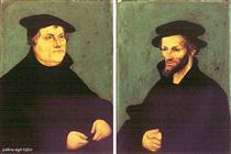 Портрет Мартина Лютера и Филиппа Меланхтона - Лукас Кранах Старший