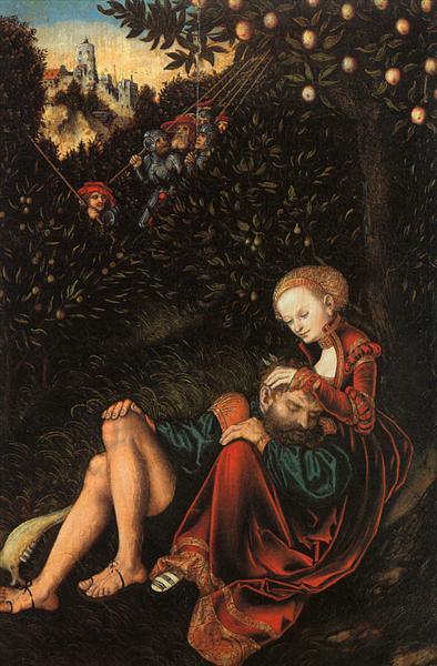Samson and Delilah, c.1529 - Lucas Cranach der Ältere