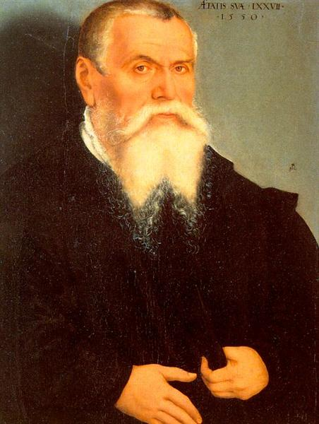 Self Portrait of Lucas Cranach the Elder, 1550 - Lucas Cranach the Elder