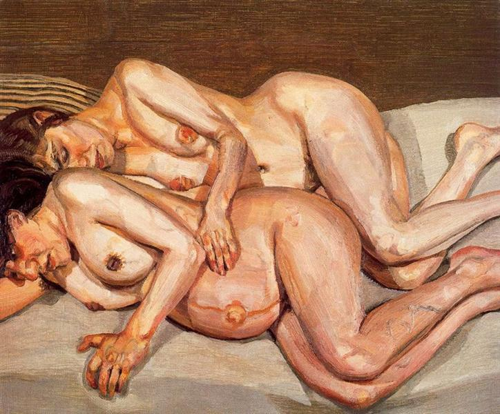Annie and Alice, 1975 - Lucian Freud