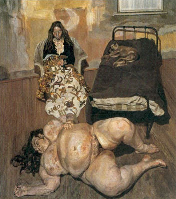 Evening in the Studio, 1993 - Lucian Freud
