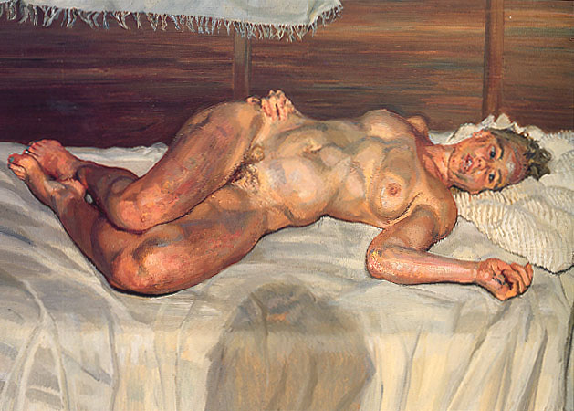 Flora with Blue Toe Nails, 2000 - 2001 - Lucian Freud