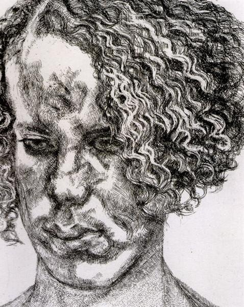 Girl with Fuzzy Hair, 2004 - Lucian Freud