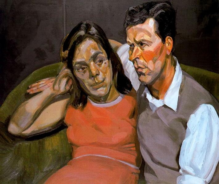 Michael Andrews and June, 1965 - 1966 - Lucian Freud